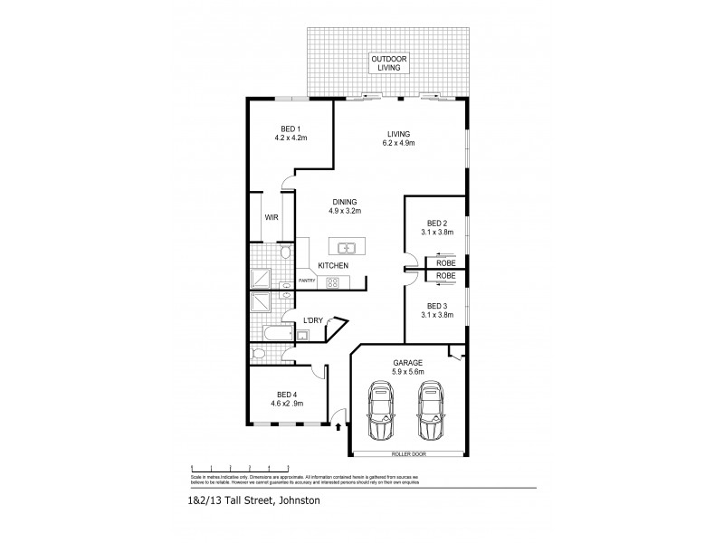 1&2/15 Tall Street, Johnston NT 0832 Floorplan