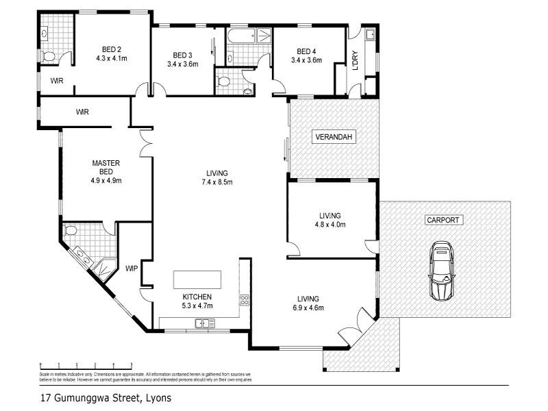 17 Gumunggwa Street, Lyons NT 0810 Floorplan