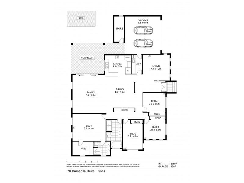 28 Damabila Drive, Lyons NT 0810 Floorplan