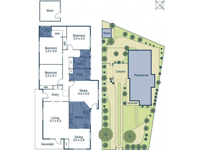 4 Norris Court, Blackburn VIC 3130 Floorplan