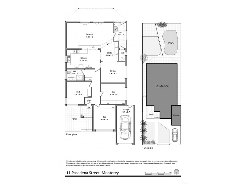 11 Pasadena Street, Monterey NSW 2217 Floorplan