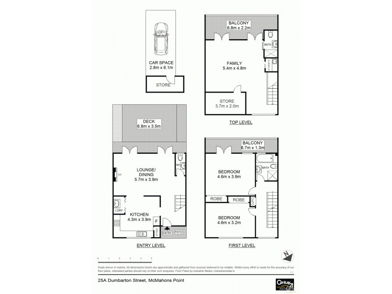 25A Dumbarton Street, Mcmahons Point NSW 2060 Floorplan