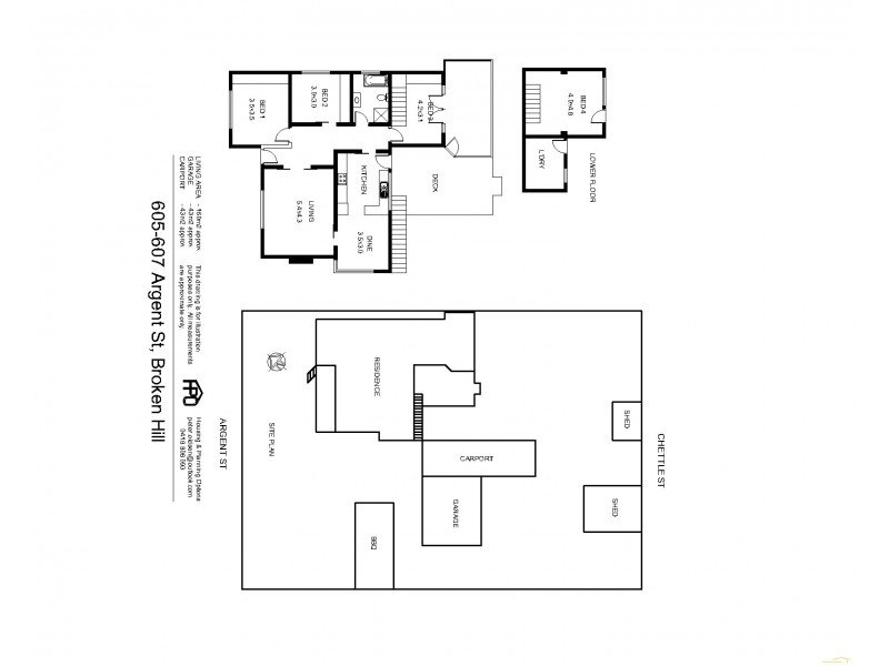 607 Argent Street, Broken Hill NSW 2880 Floorplan