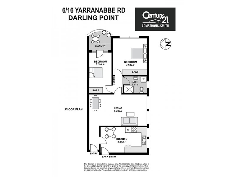 6/16 Yarranabbe Road, Darling Point NSW 2027 Floorplan