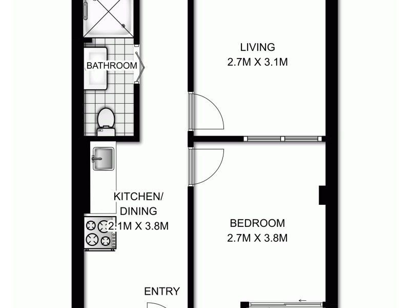 208/29 Newland Street, Bondi Junction NSW 2022 Floorplan