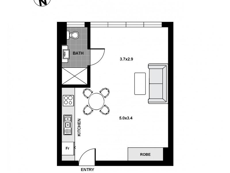 315/29 Newland Street, Bondi Junction NSW 2022 Floorplan