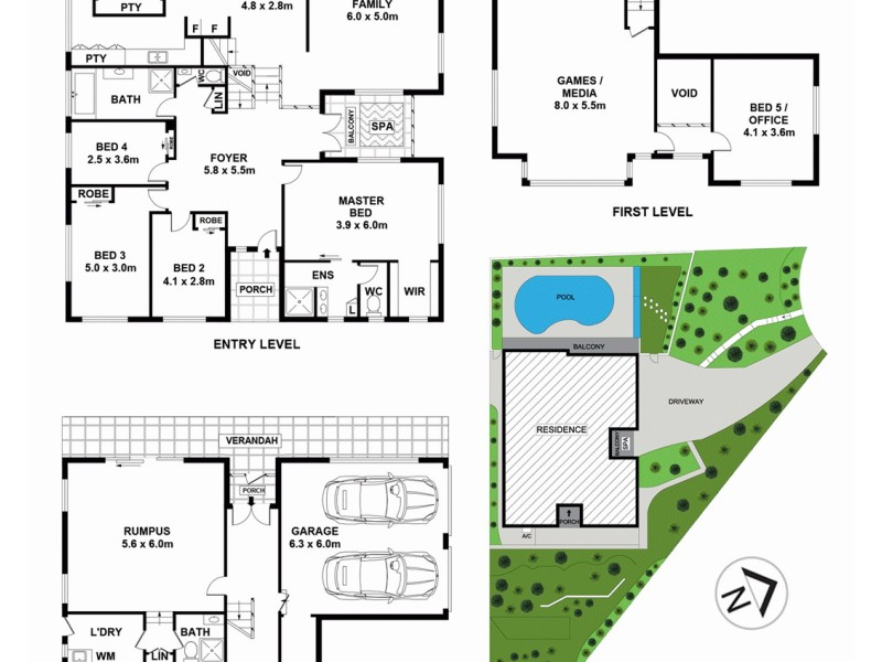 25 Timothy Close, Cherrybrook NSW 2126 Floorplan