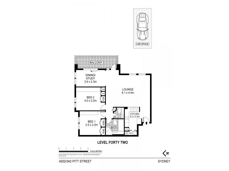 4202/343 Pitt Street, Sydney NSW 2000 Floorplan