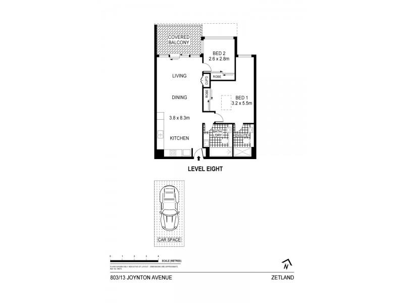 803/13 Joynton Avenue, Zetland NSW 2017 Floorplan
