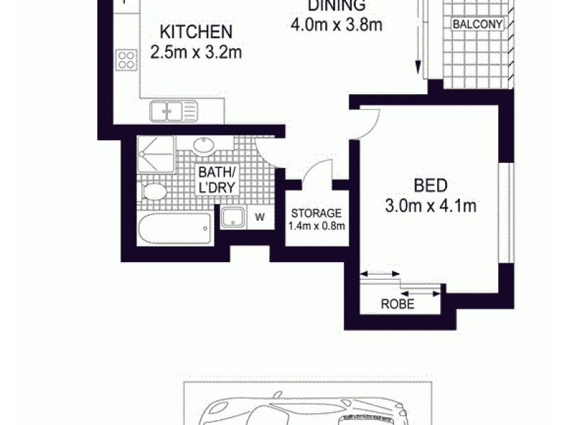 247/298-304 Sussex Street, Sydney NSW 2000 Floorplan