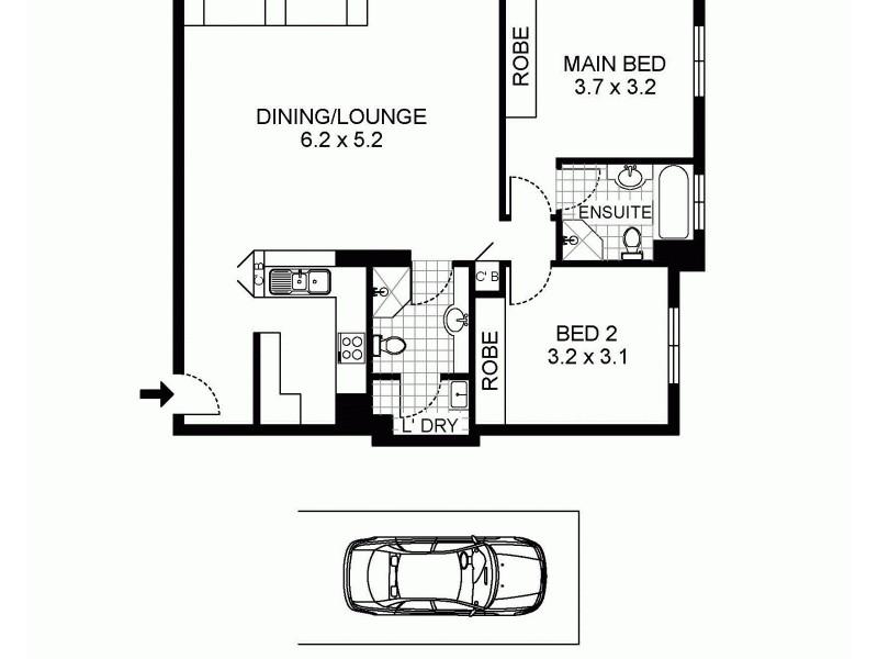 2509/343 Pitt Street, Sydney NSW 2000 Floorplan
