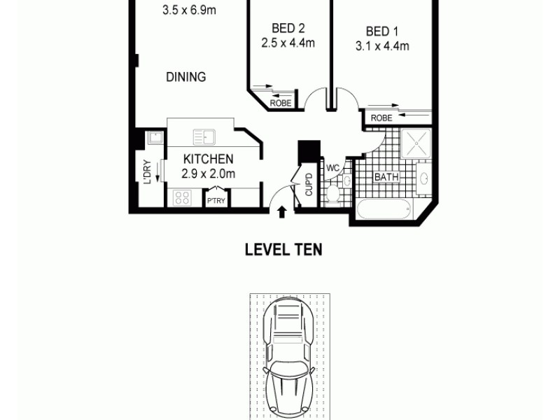 39/533 Kent Street, Sydney NSW 2000 Floorplan