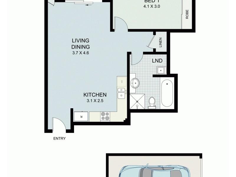 307/298 Sussex Street, Sydney NSW 2000 Floorplan