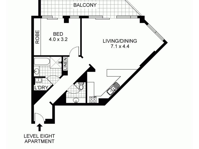 806/5 York Street, Sydney NSW 2000 Floorplan