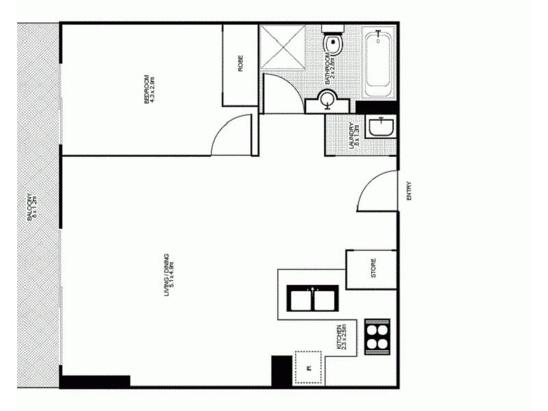 314/298 Sussex Street, Sydney NSW 2000 Floorplan