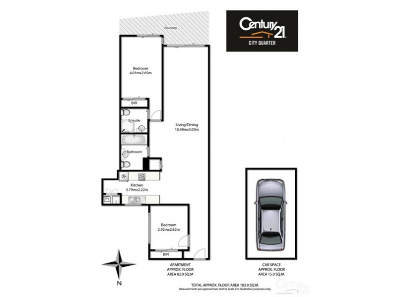 326/38-40 Albany Street, St Leonards NSW 2065 Floorplan