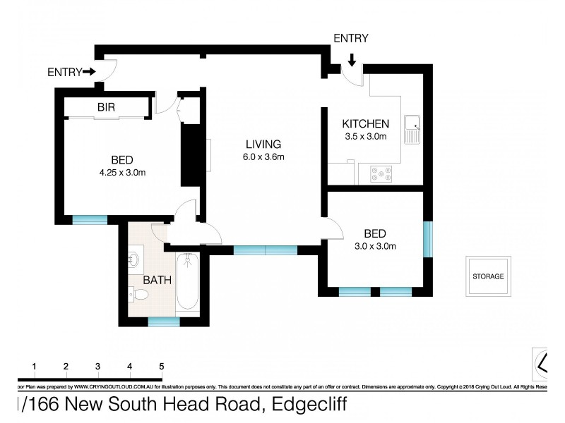 11/166 New South Head Road, Edgecliff NSW 2027 Floorplan