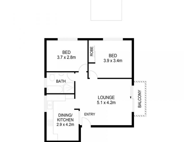 5/12 Templeman Crescent, Hillsdale NSW 2036 Floorplan