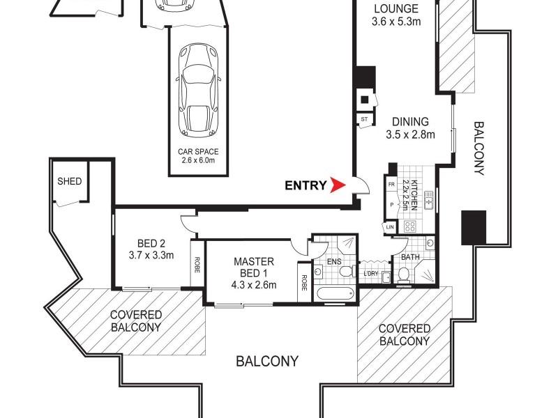 257/18 Lusty Street, Wolli Creek NSW 2205 Floorplan