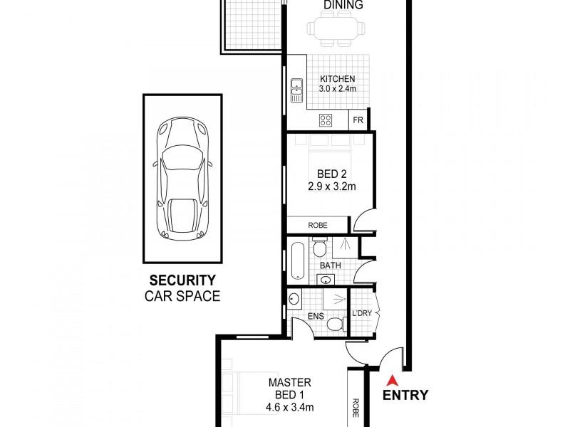 9/36 George Street, Marrickville NSW 2204 Floorplan
