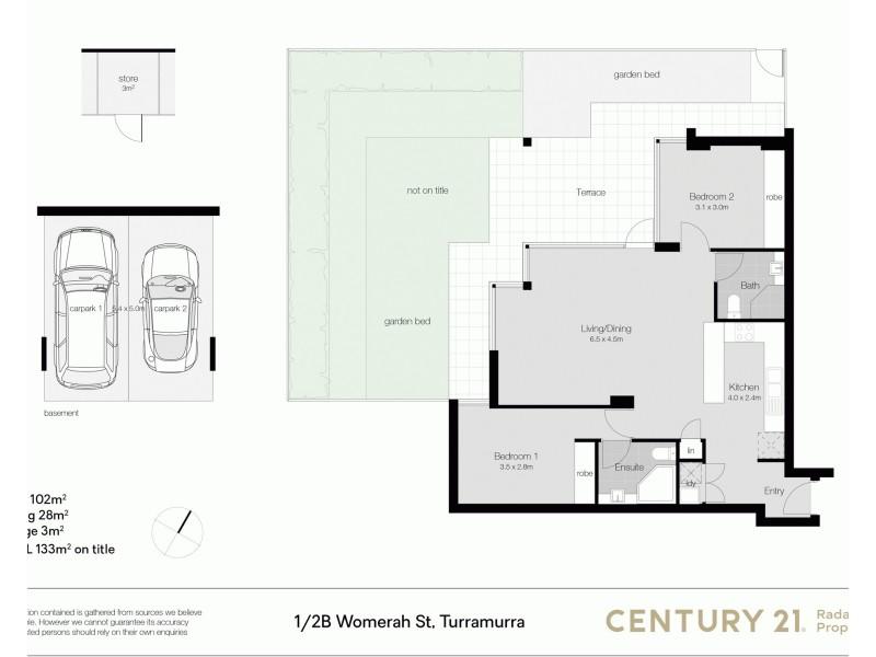 1/2B Womerah Street, Turramurra NSW 2074 Floorplan