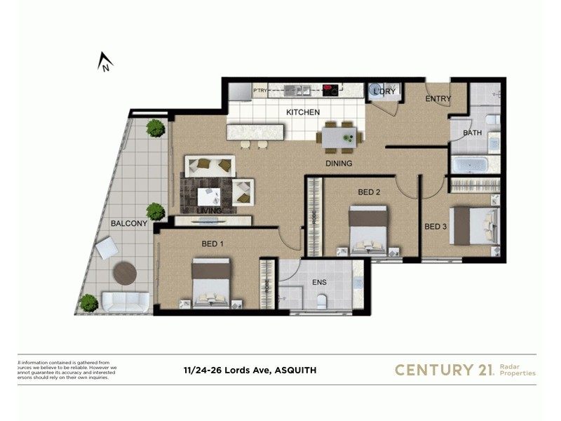 11/24-26 Lords Avenue, Asquith NSW 2077 Floorplan