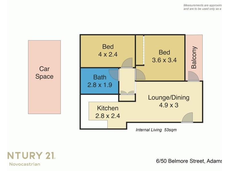 6/50 Belmore Street, Adamstown NSW 2289 Floorplan