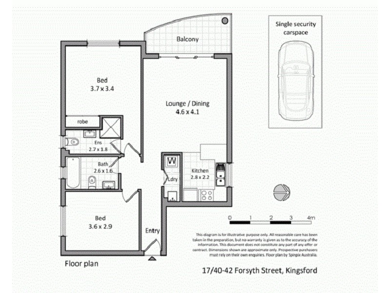 17/40-42 Forsyth Street, Kingsford NSW 2032 Floorplan