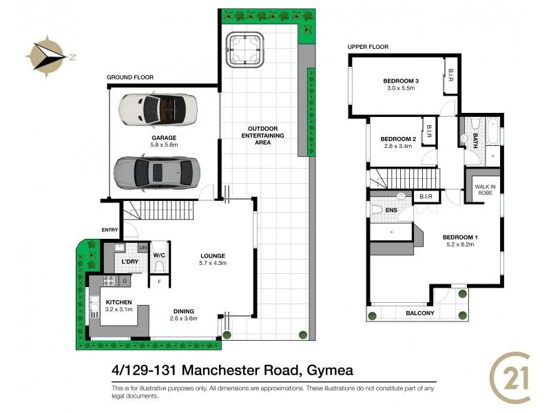 4/129-131 Manchester Road, Gymea NSW 2227 Floorplan