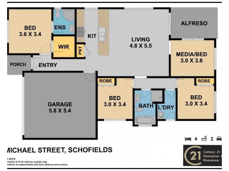 8  Michael Street, Schofields NSW 2762 Floorplan