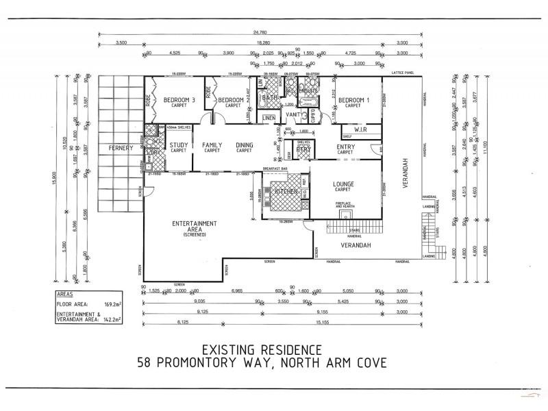 58 Promontory Way, North Arm Cove NSW 2324 Floorplan
