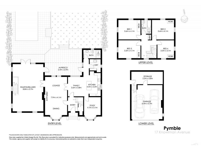 17 Knowlman Avenue, Pymble NSW 2073 Floorplan