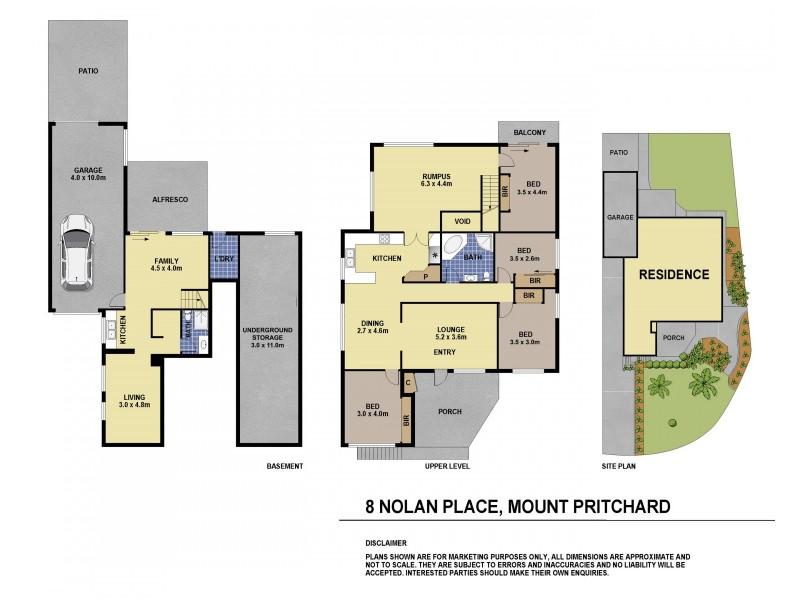 8 Nolan Place, Mount Pritchard NSW 2170 Floorplan