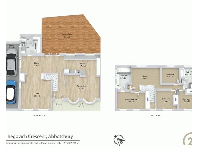 91 Begovich Crescent, Abbotsbury NSW 2176 Floorplan