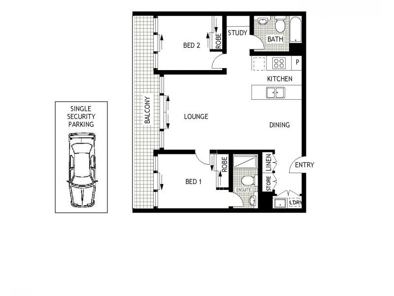 49/3 Defries Avenue, Zetland NSW 2017 Floorplan