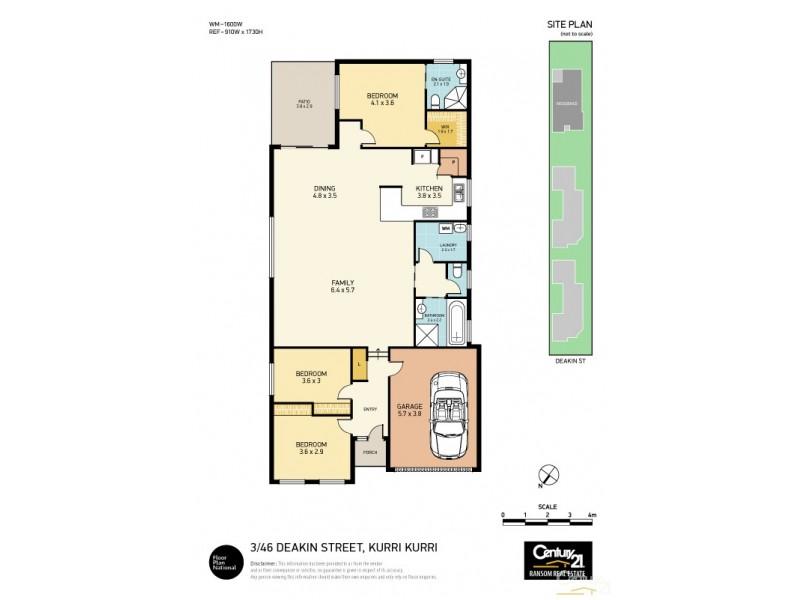 3/46 Deakin Street, Kurri Kurri NSW 2327 Floorplan