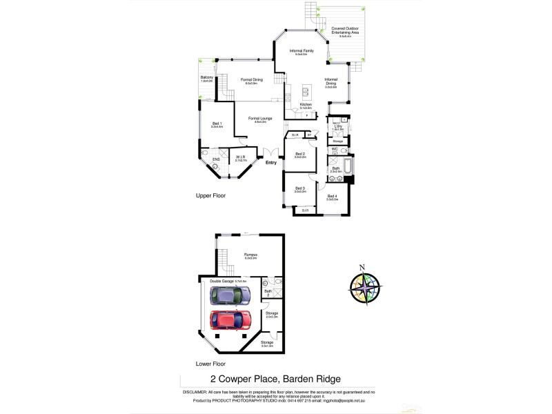 2 Cowper Place, Barden Ridge NSW 2234 Floorplan