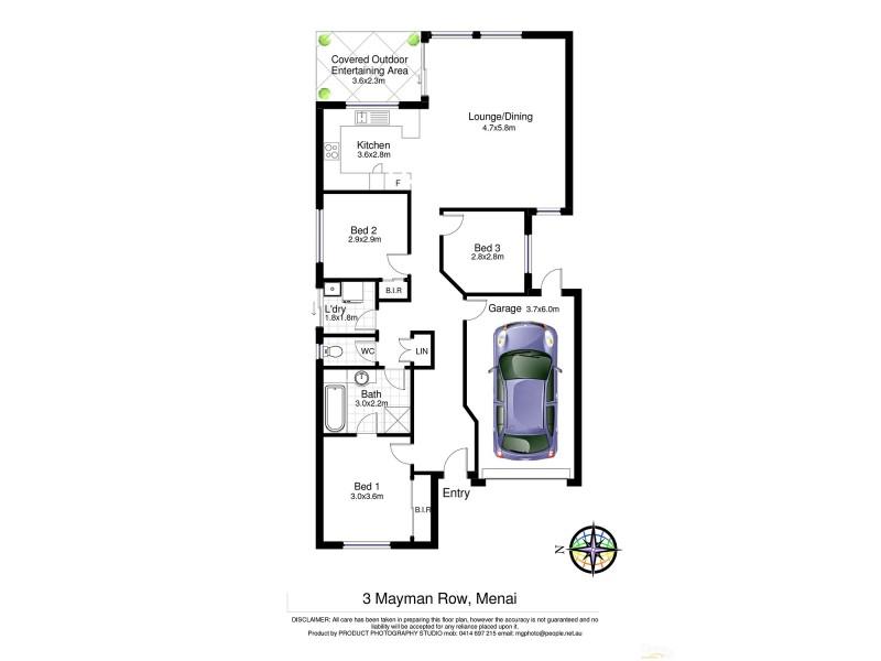3 Mayman Row, Menai NSW 2234 Floorplan