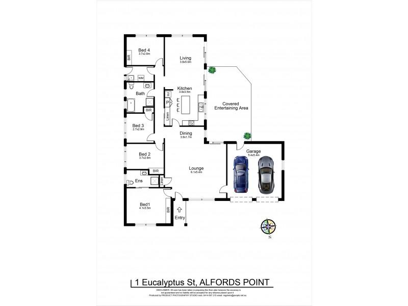 1 Eucalyptus Street, Alfords Point NSW 2234 Floorplan