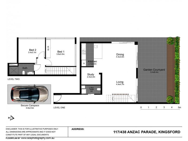 117/438 Anzac Parade, Kingsford NSW 2032 Floorplan