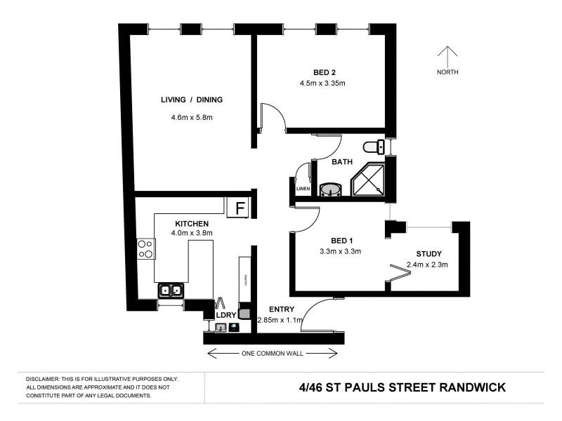 4/46-46a St Pauls Street, Randwick NSW 2031 Floorplan