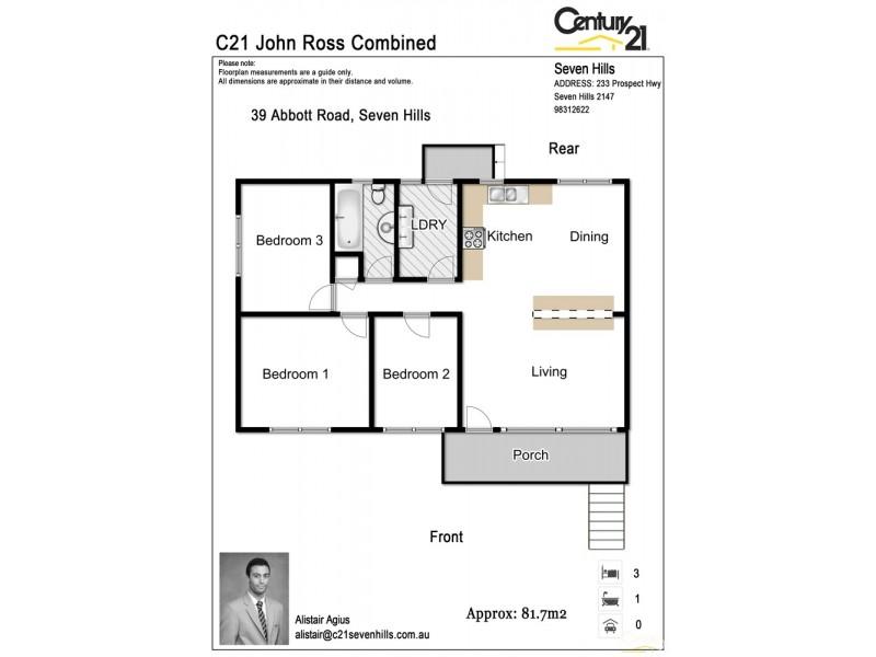 39 Abbott Road, Seven Hills NSW 2147 Floorplan