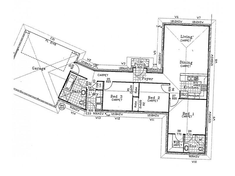 1/6 Melroy Drive, Mount Hutton NSW 2290 Floorplan