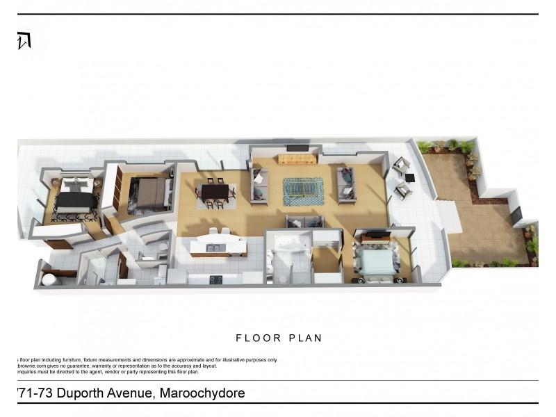 1/71-73  Duporth Avenue, Maroochydore QLD 4558 Floorplan