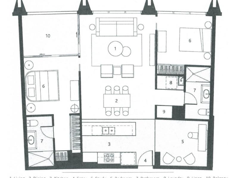 1 Marina Drive, Benowa QLD 4217 Floorplan