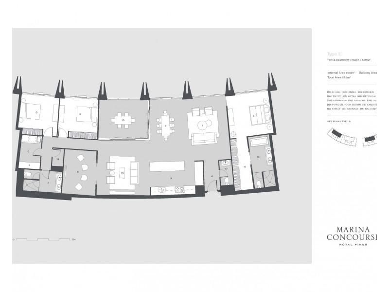 1 The Concourse, Benowa QLD 4217 Floorplan