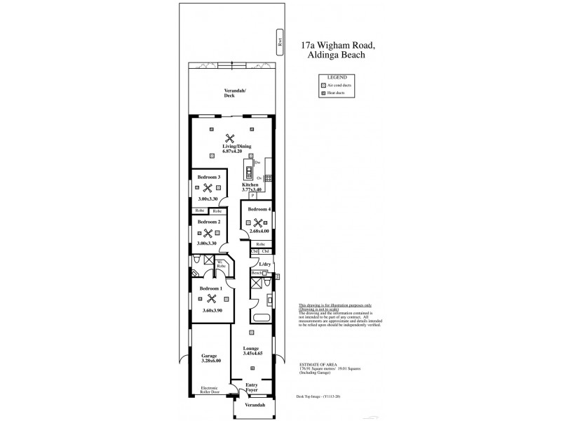 17A Wigham Road, Aldinga Beach SA 5173 Floorplan