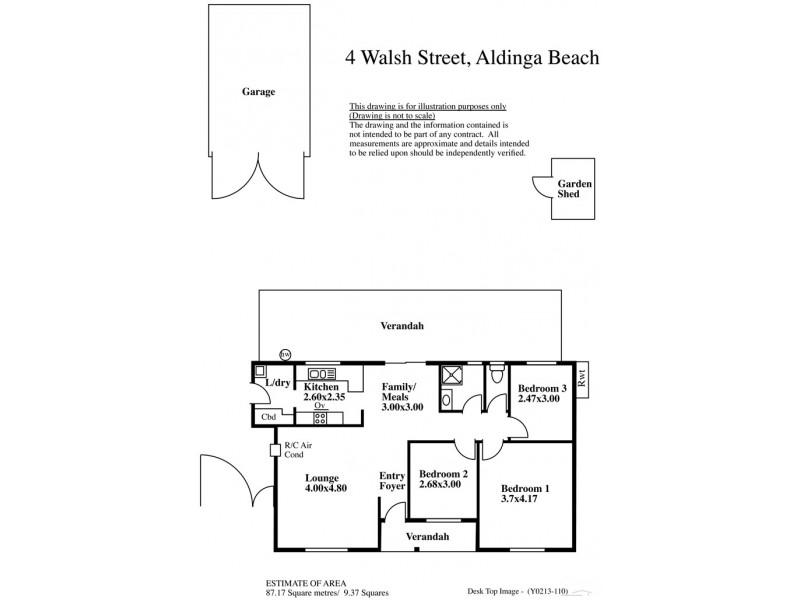 4 Walsh Street, Aldinga Beach SA 5173 Floorplan