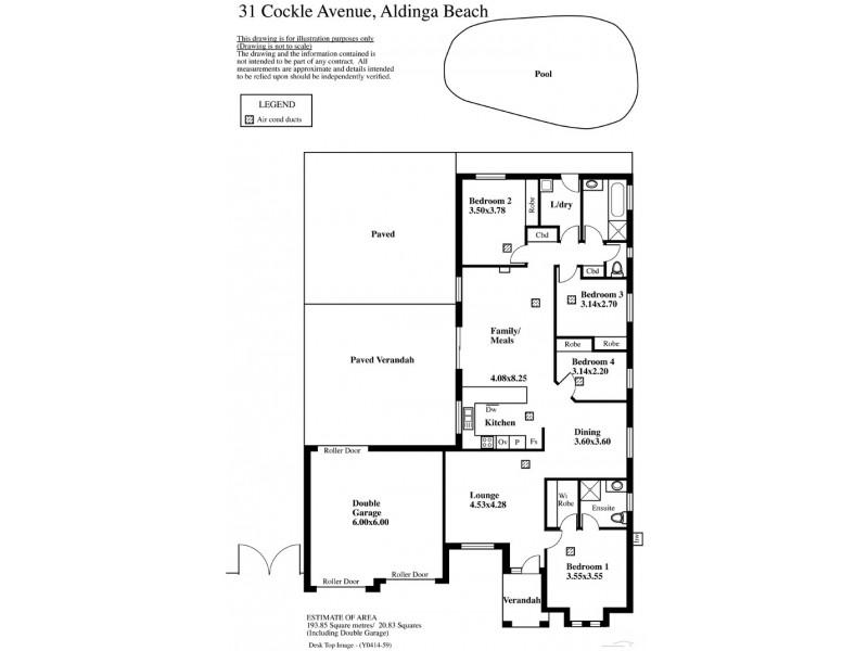 31 Cockle Ave, Aldinga Beach SA 5173 Floorplan