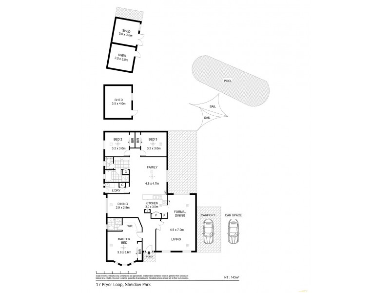 17 Pryor Loop, Sheidow Park SA 5158 Floorplan